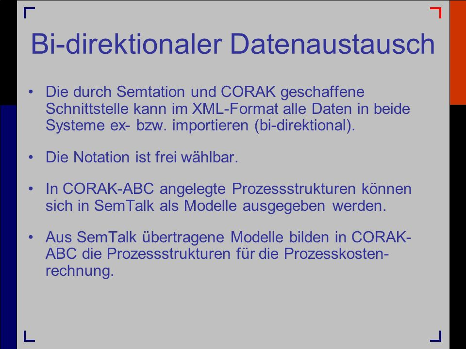 Bi-direktionaler Datenaustausch