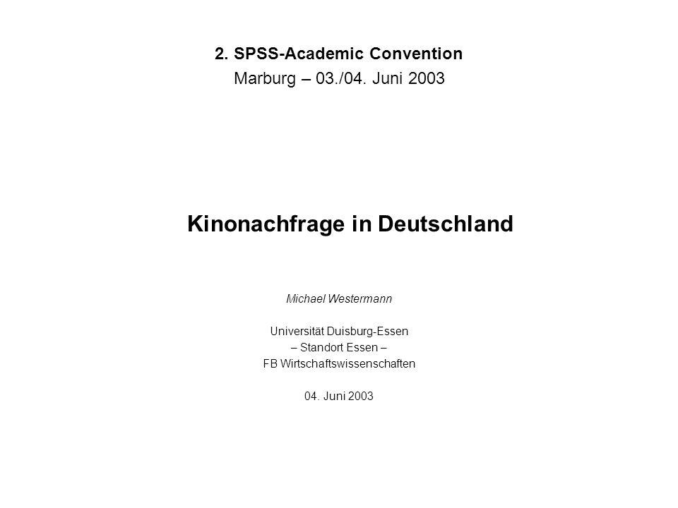 Kinonachfrage in Deutschland