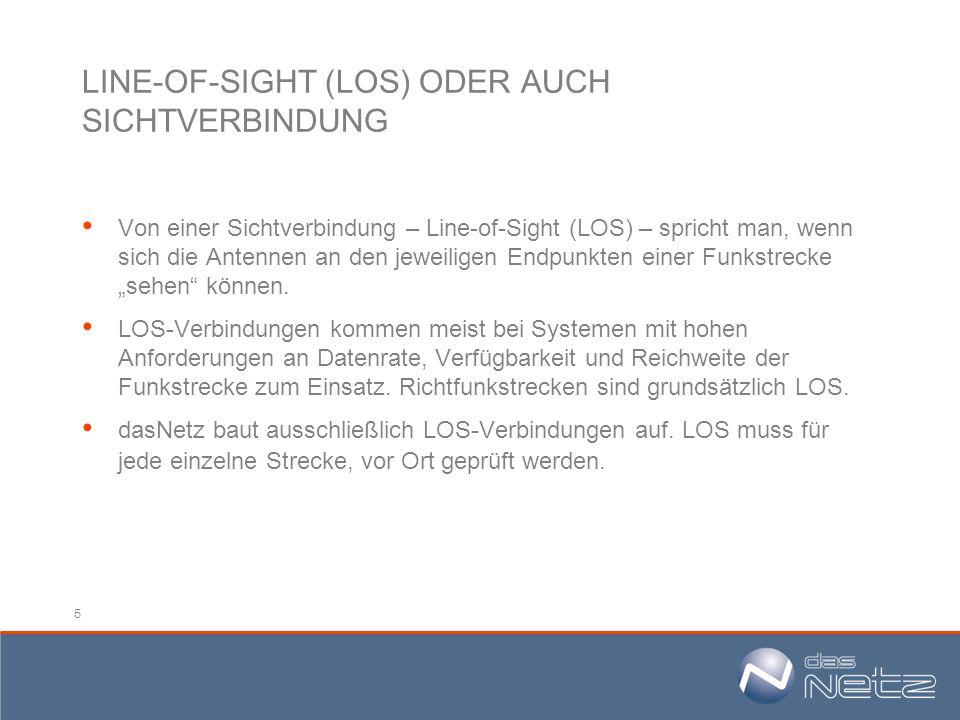 LINE-OF-SIGHT (LOS) ODER AUCH SICHTVERBINDUNG