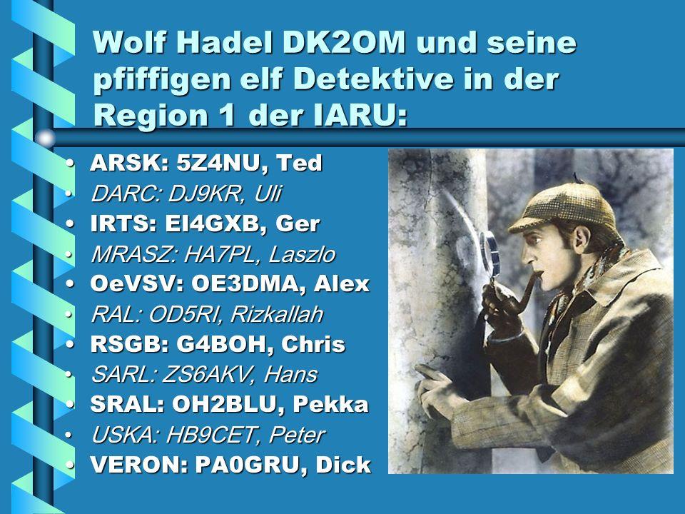 Wolf Hadel DK2OM und seine pfiffigen elf Detektive in der Region 1 der IARU: