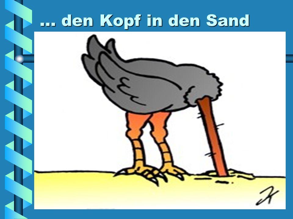 ... den Kopf in den Sand