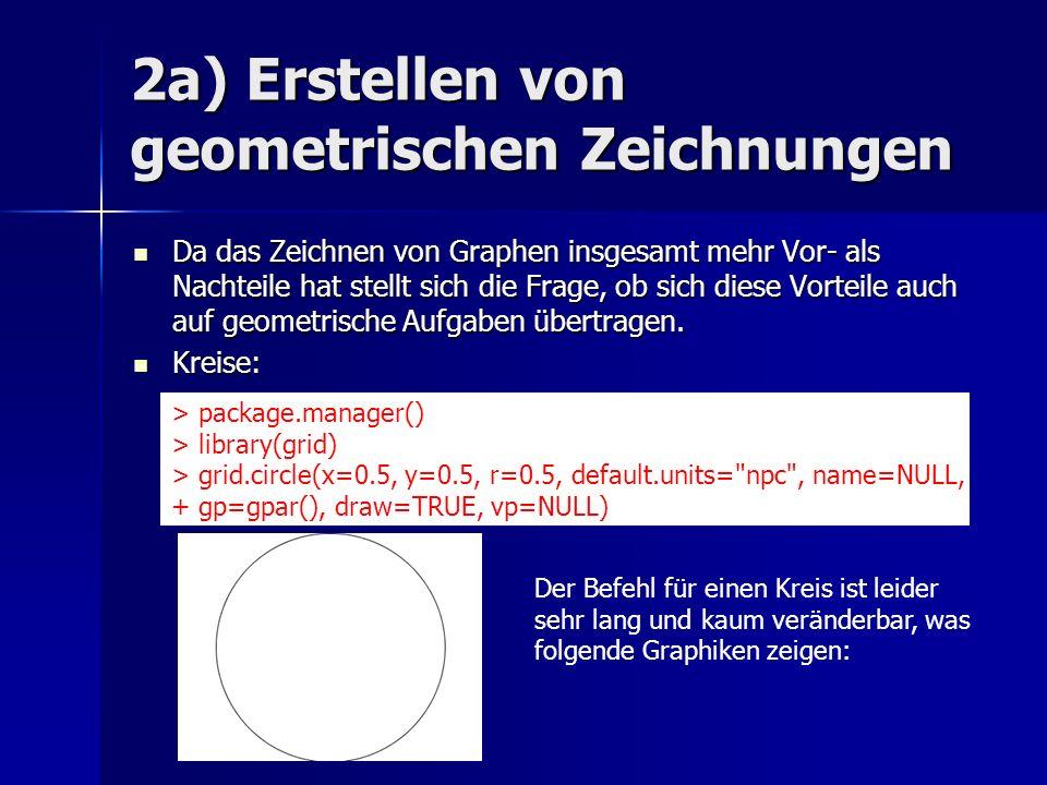 2a) Erstellen von geometrischen Zeichnungen