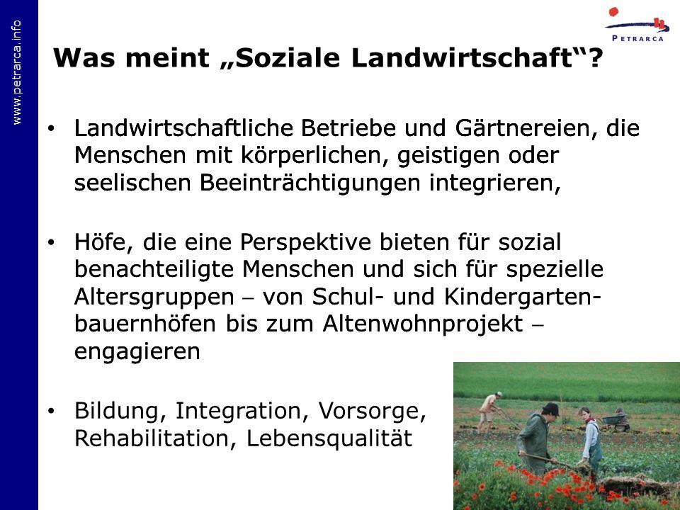 """Was meint """"Soziale Landwirtschaft"""