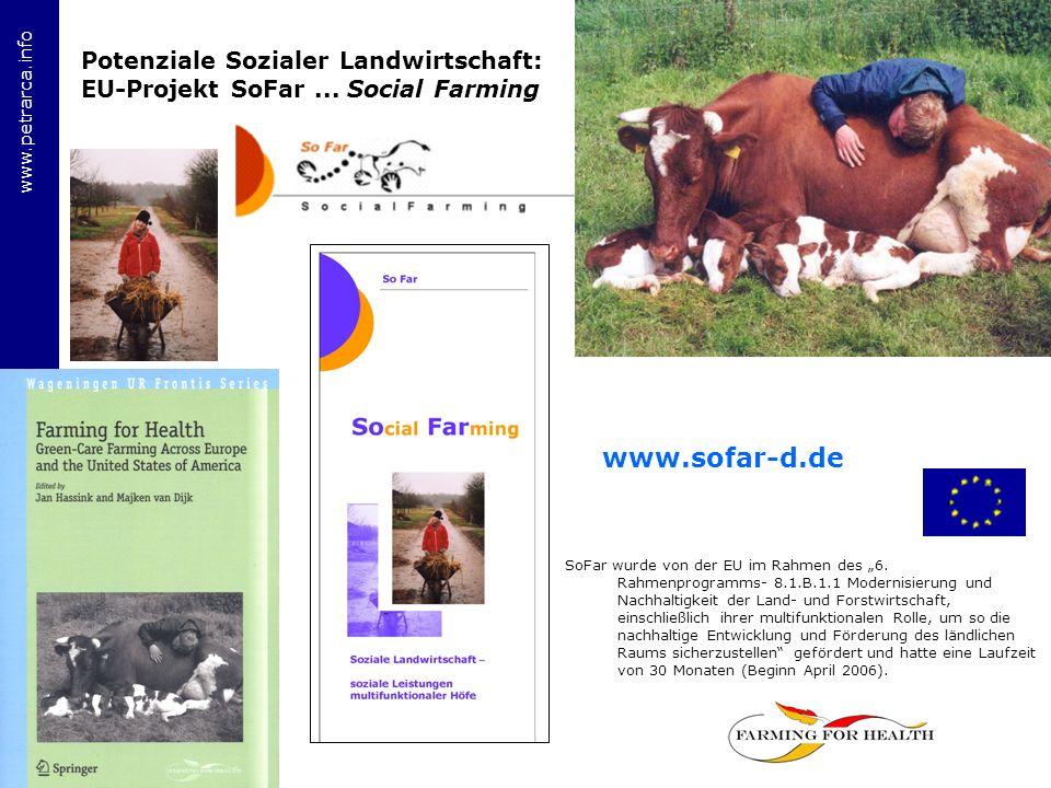 Potenziale Sozialer Landwirtschaft: EU-Projekt SoFar ... Social Farming