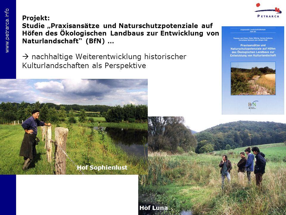 """Projekt: Studie """"Praxisansätze und Naturschutzpotenziale auf Höfen des Ökologischen Landbaus zur Entwicklung von Naturlandschaft (BfN) …"""