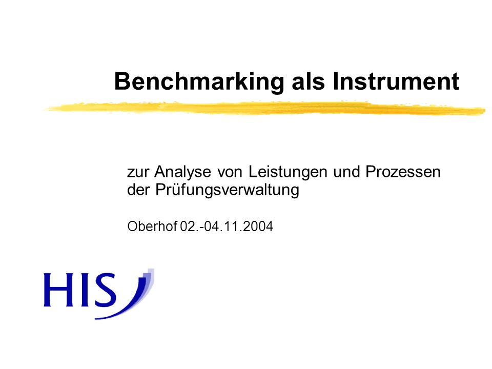 Benchmarking als Instrument