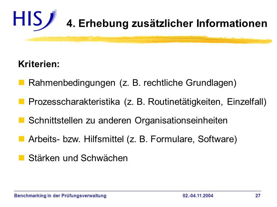 4. Erhebung zusätzlicher Informationen