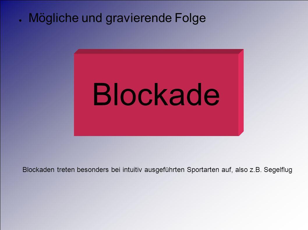 Blockade Mögliche und gravierende Folge