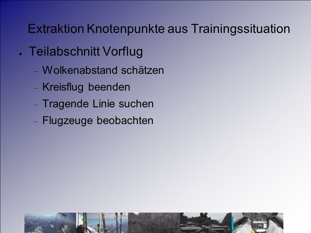 Extraktion Knotenpunkte aus Trainingssituation