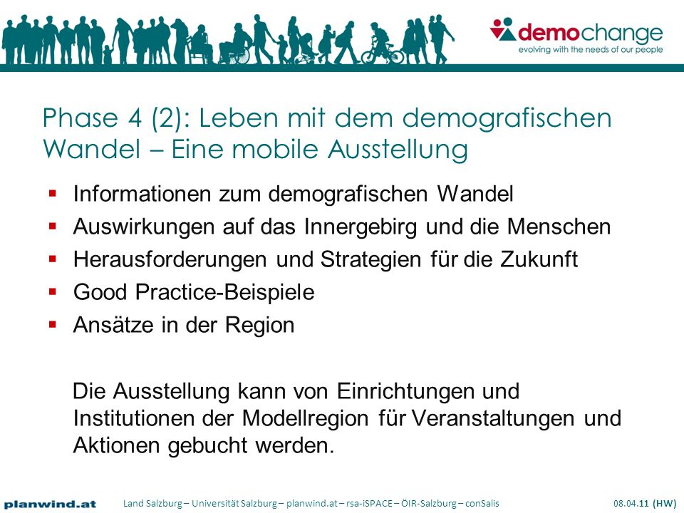Phase 4 (2): Leben mit dem demografischen Wandel – Eine mobile Ausstellung