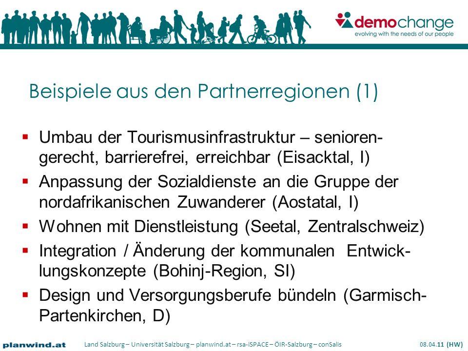 Beispiele aus den Partnerregionen (1)