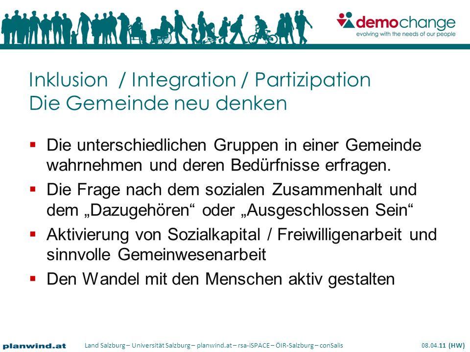 Inklusion / Integration / Partizipation Die Gemeinde neu denken