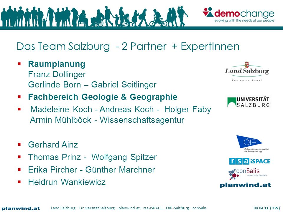 Das Team Salzburg - 2 Partner + ExpertInnen