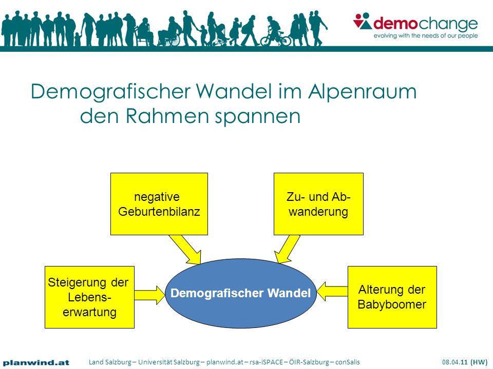 Demografischer Wandel im Alpenraum den Rahmen spannen