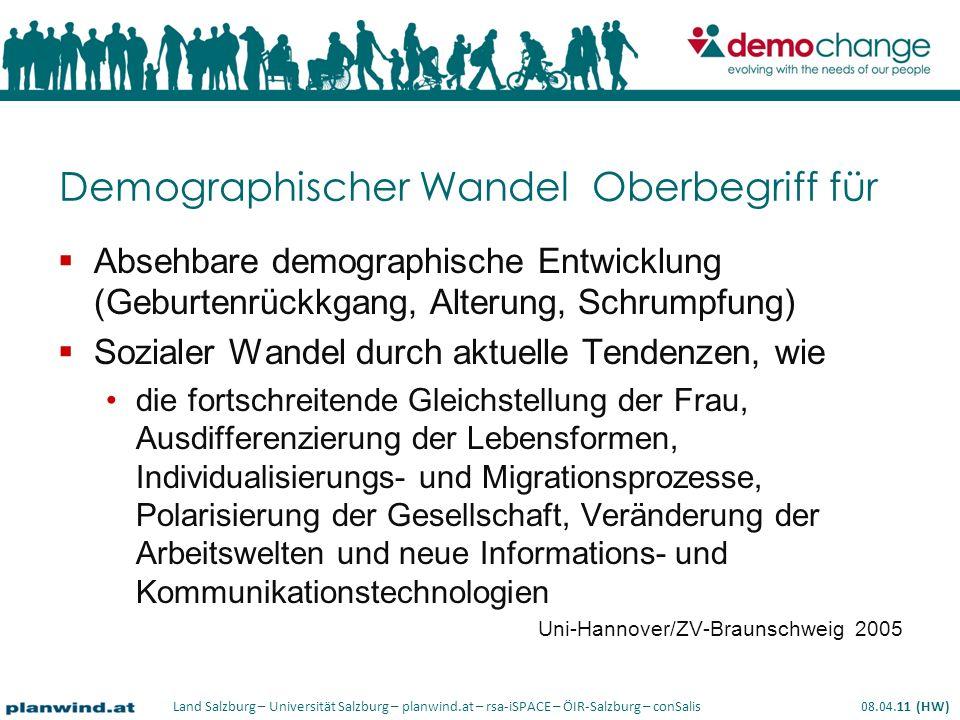 Demographischer Wandel Oberbegriff für