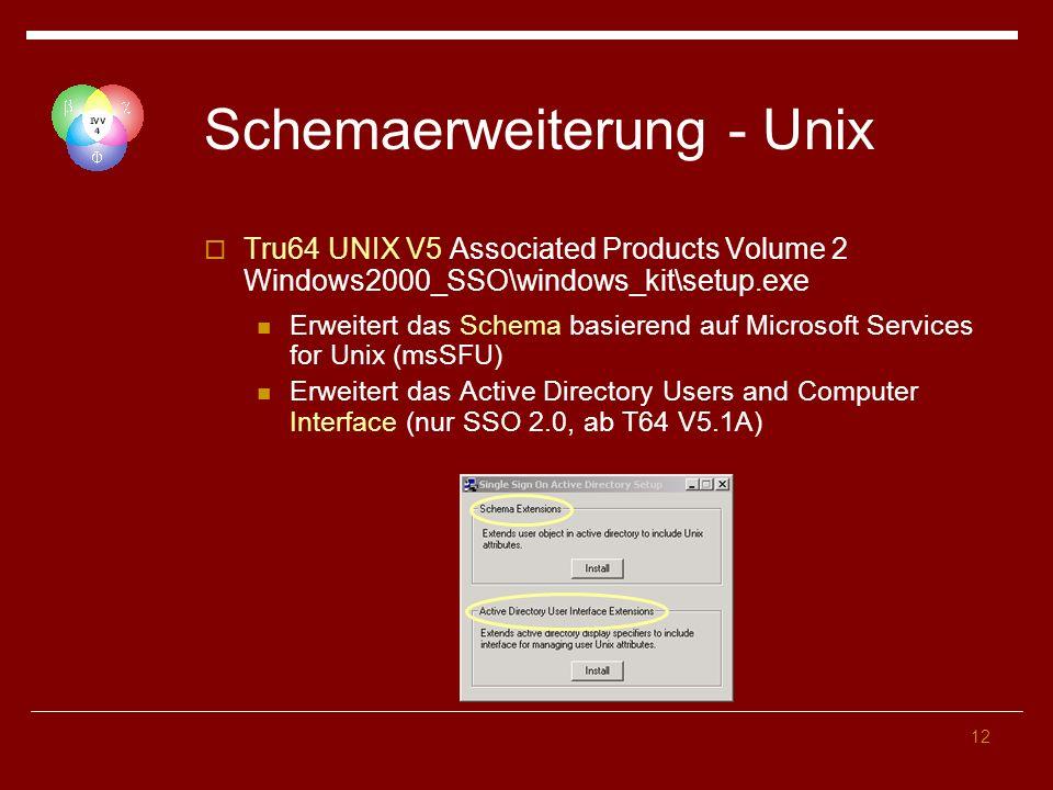 Schemaerweiterung - Unix