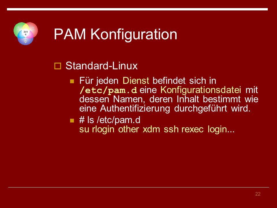 PAM Konfiguration Standard-Linux