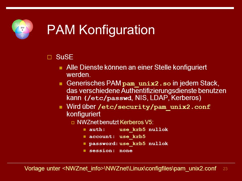 PAM Konfiguration SuSE