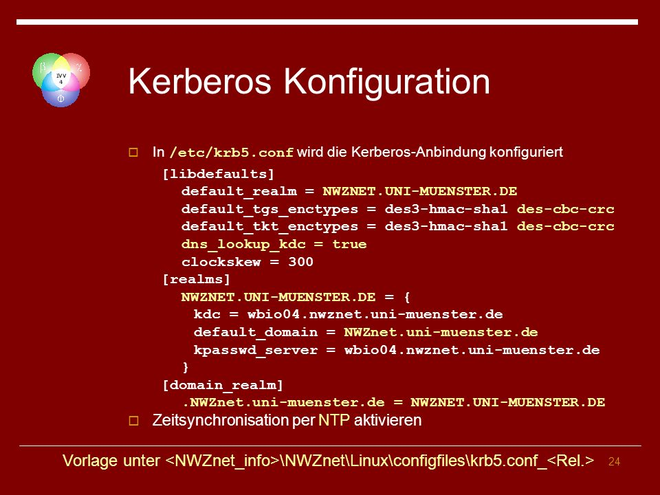 Kerberos Konfiguration