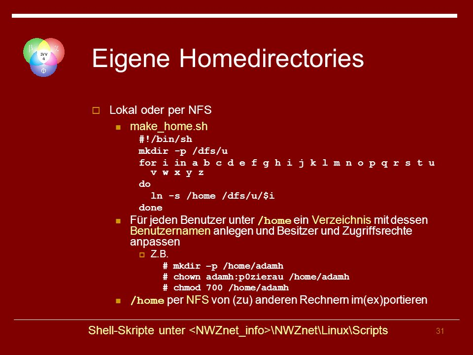 Eigene Homedirectories