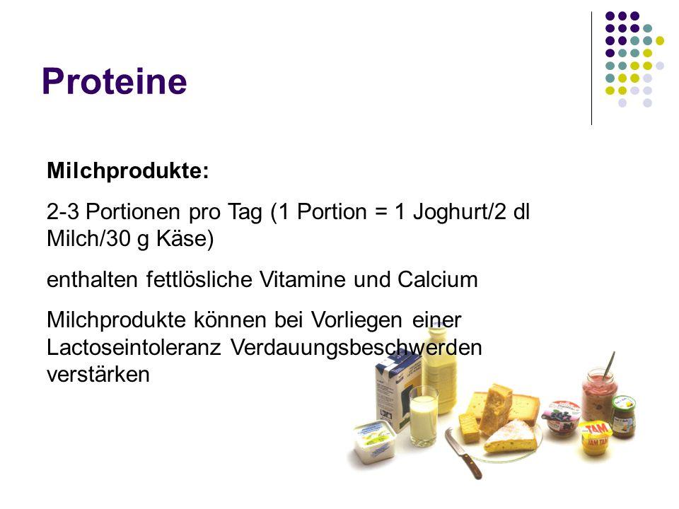 Proteine Milchprodukte: