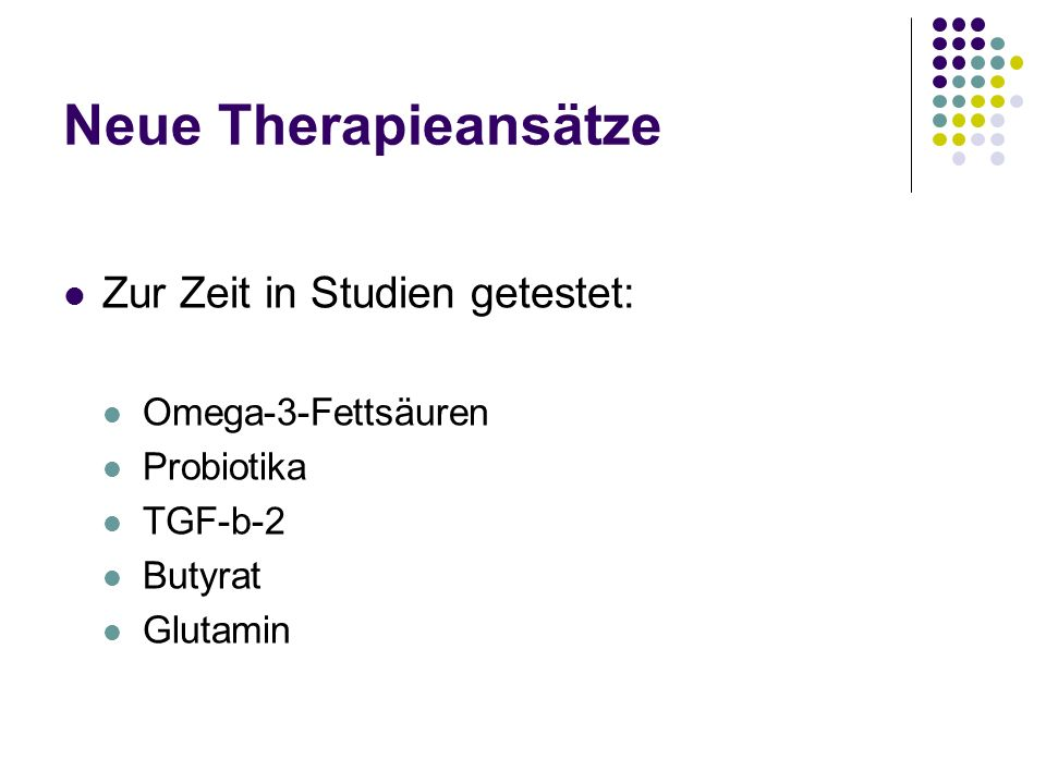 Neue Therapieansätze Zur Zeit in Studien getestet: Omega-3-Fettsäuren