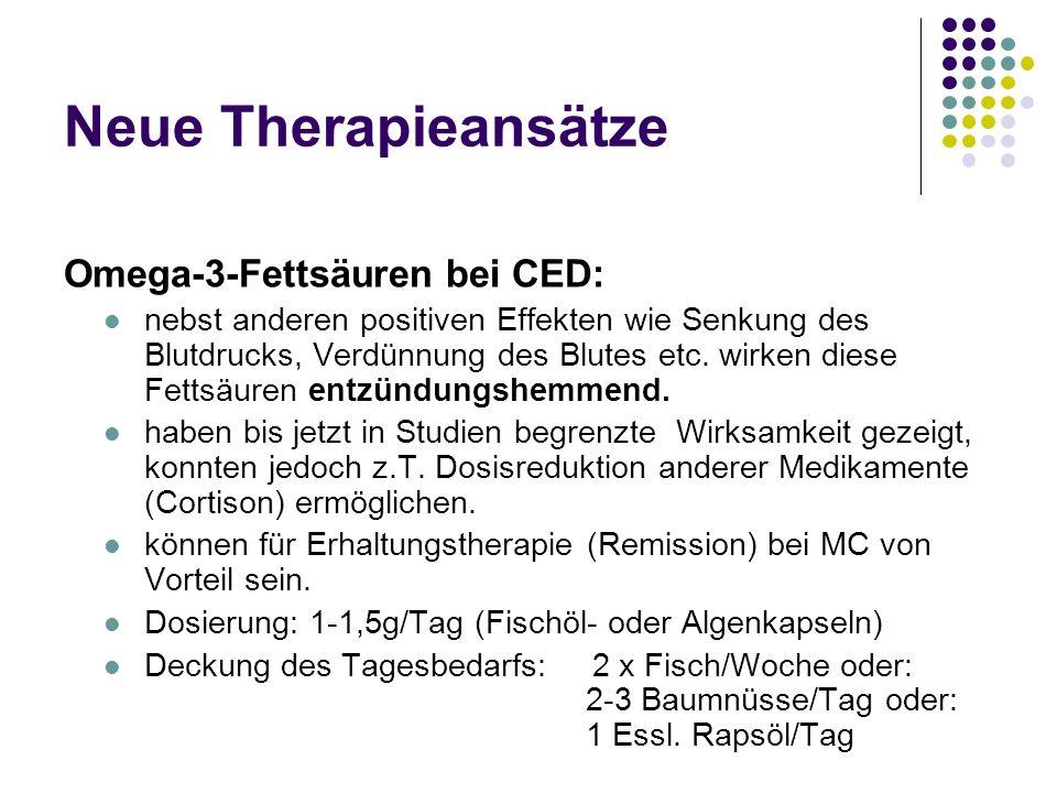 Neue Therapieansätze Omega-3-Fettsäuren bei CED: