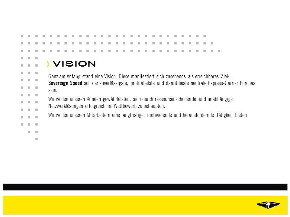 VISION Ganz am Anfang stand eine Vision. Diese manifestiert sich zusehends als erreichbares Ziel: