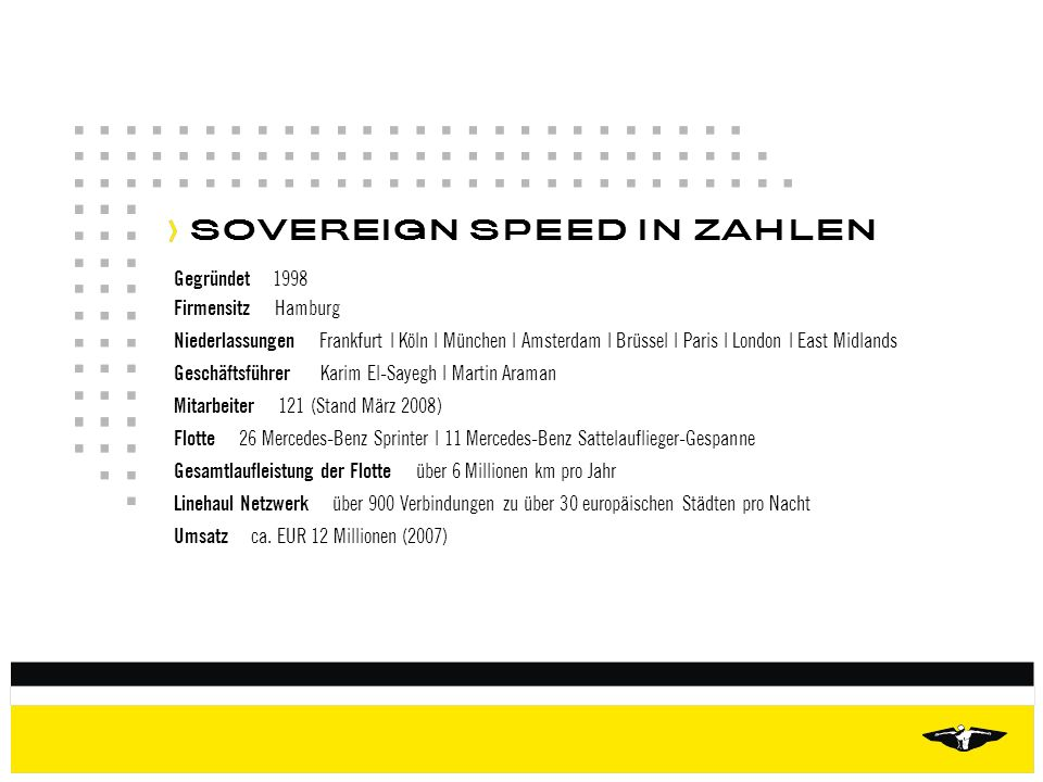 SOVEREIGN SPEED IN ZAHLEN