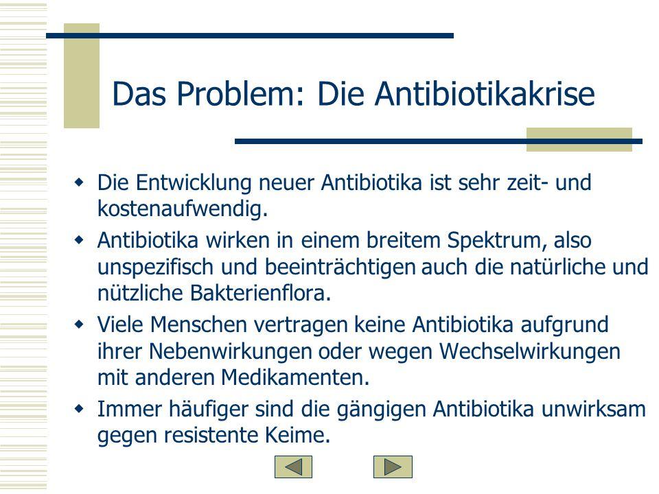 Das Problem: Die Antibiotikakrise