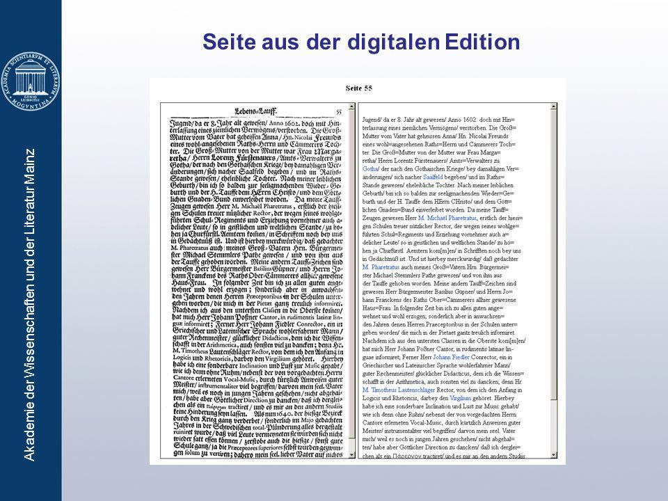 Seite aus der digitalen Edition