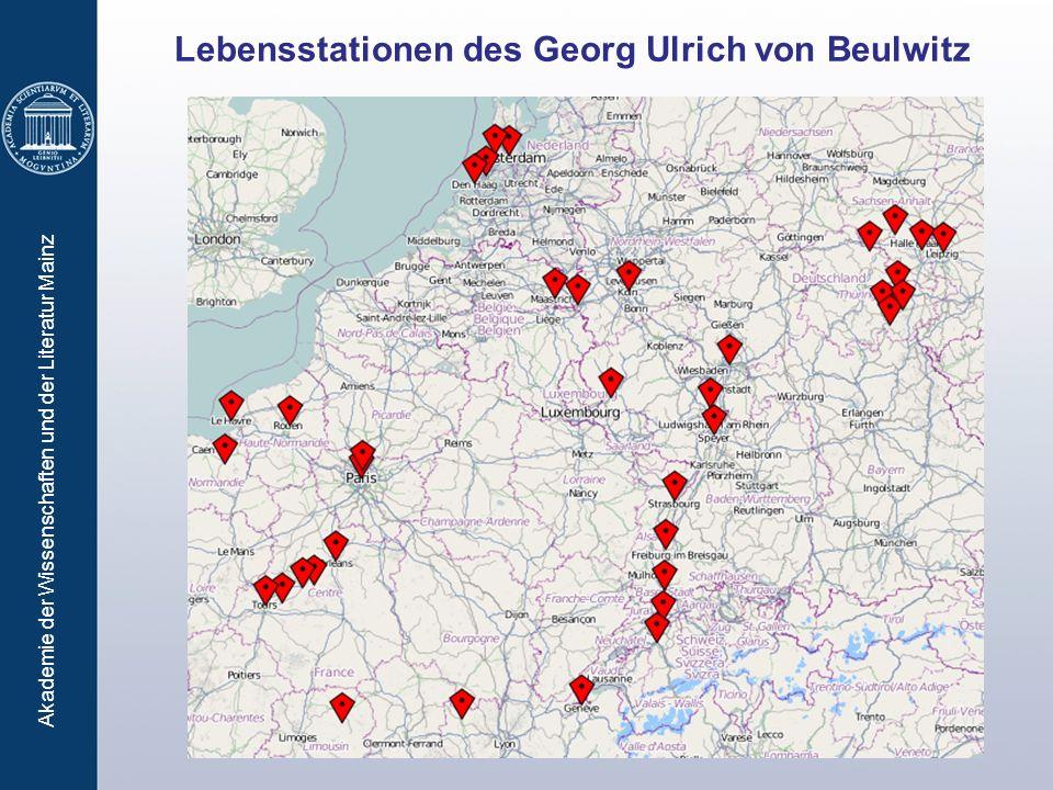 Lebensstationen des Georg Ulrich von Beulwitz