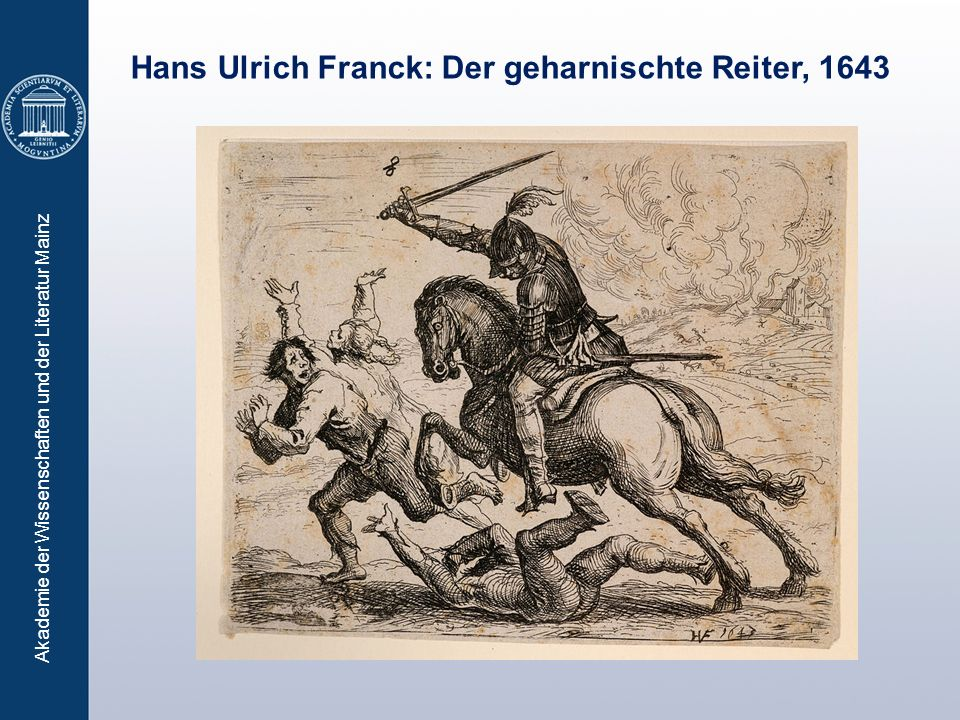Hans Ulrich Franck: Der geharnischte Reiter, 1643