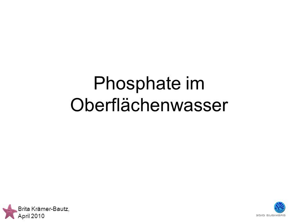 Phosphate im Oberflächenwasser