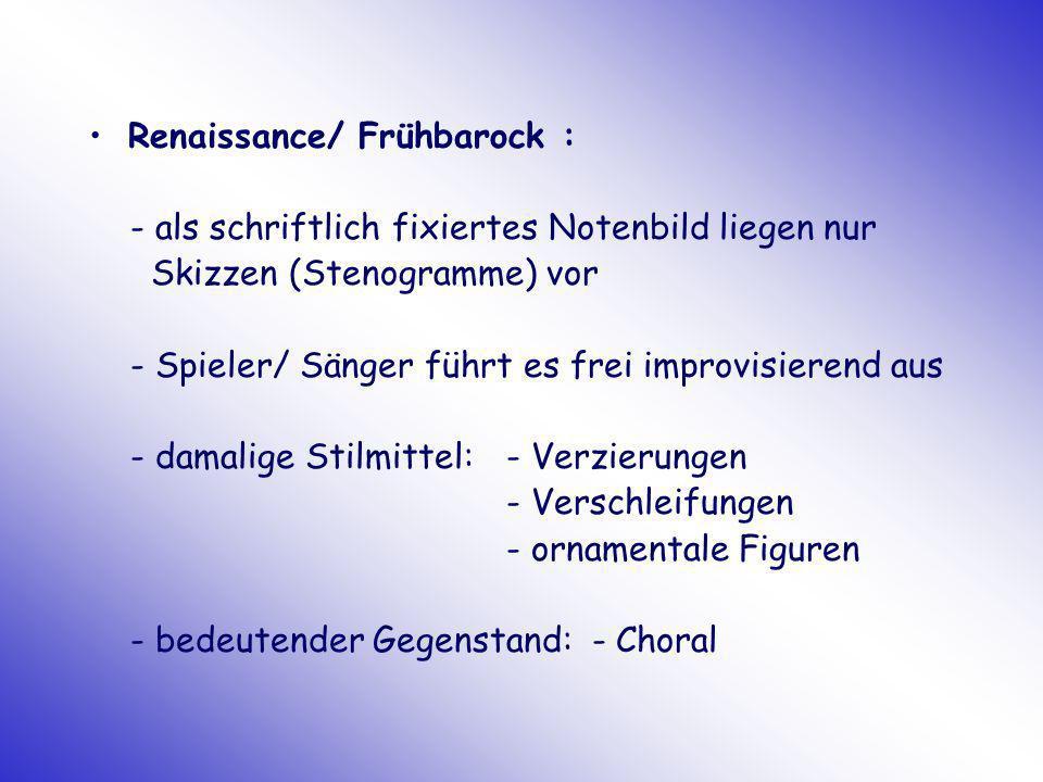 Renaissance/ Frühbarock :