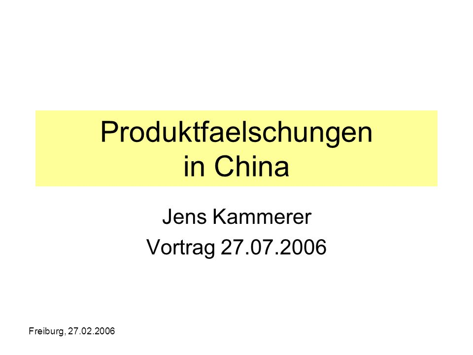 Produktfaelschungen in China