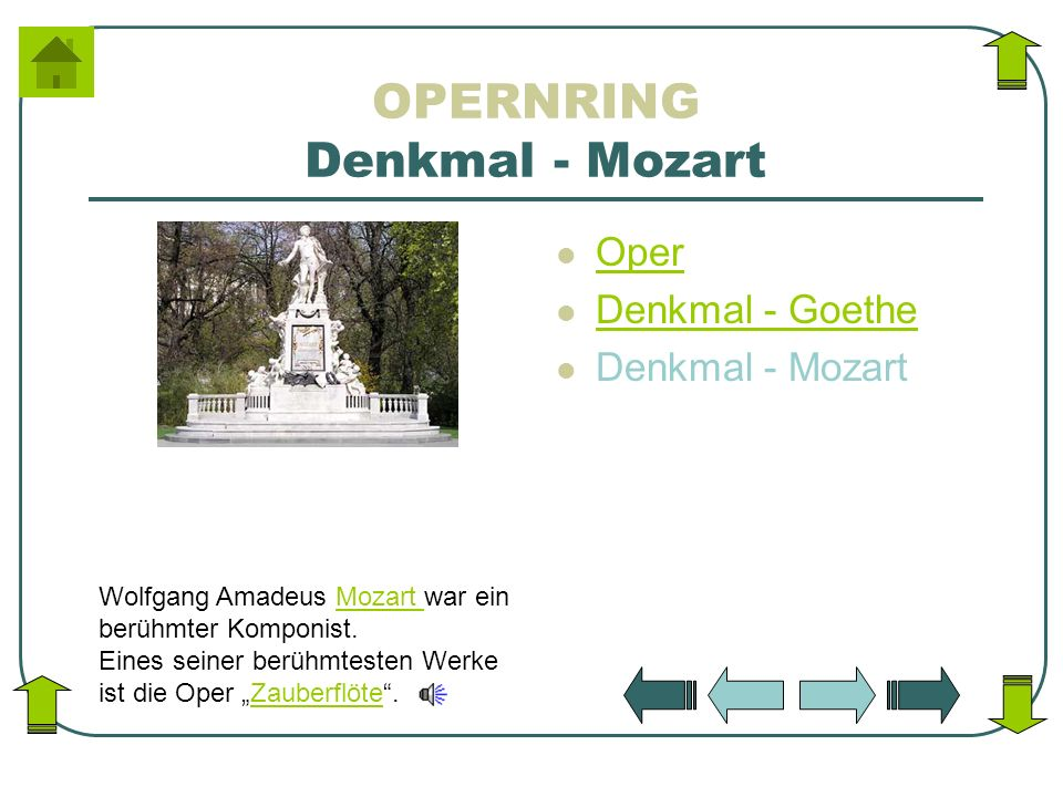 OPERNRING Denkmal - Mozart