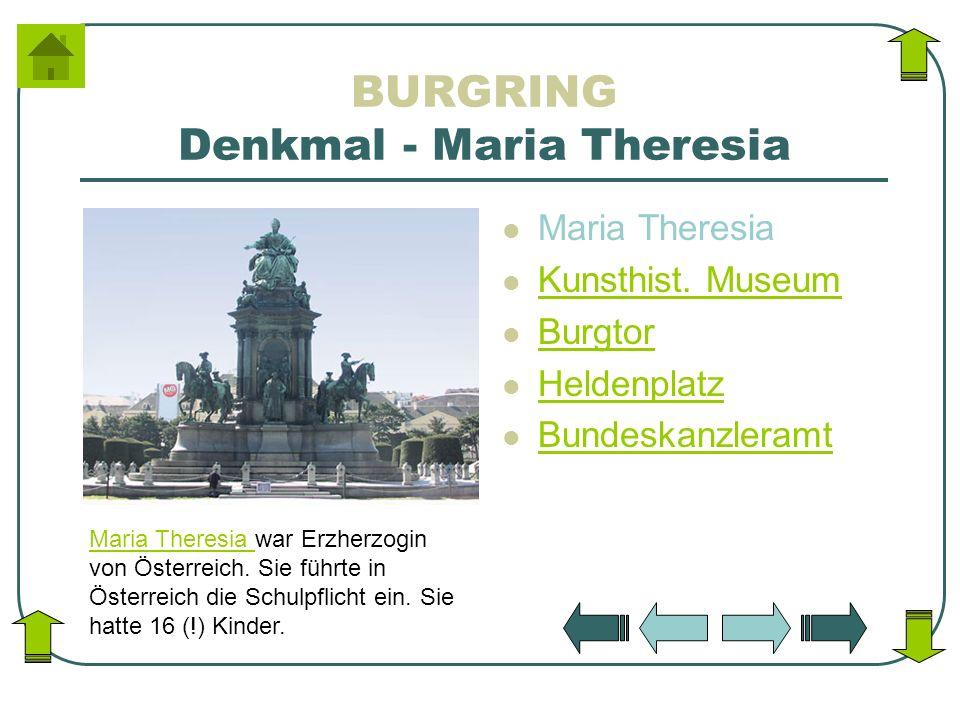 BURGRING Denkmal - Maria Theresia