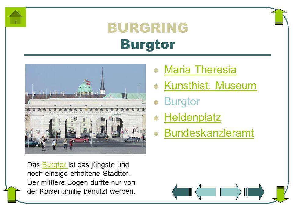 BURGRING Burgtor Maria Theresia Kunsthist. Museum Burgtor Heldenplatz