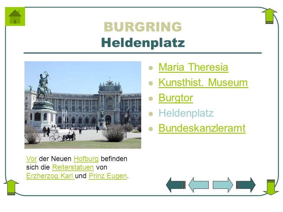 BURGRING Heldenplatz Maria Theresia Kunsthist. Museum Burgtor