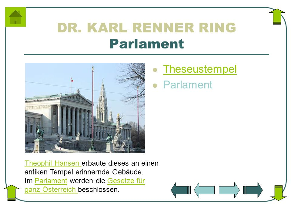 DR. KARL RENNER RING Parlament