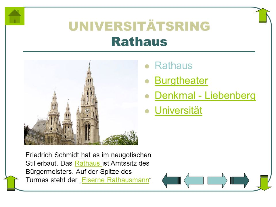 UNIVERSITÄTSRING Rathaus