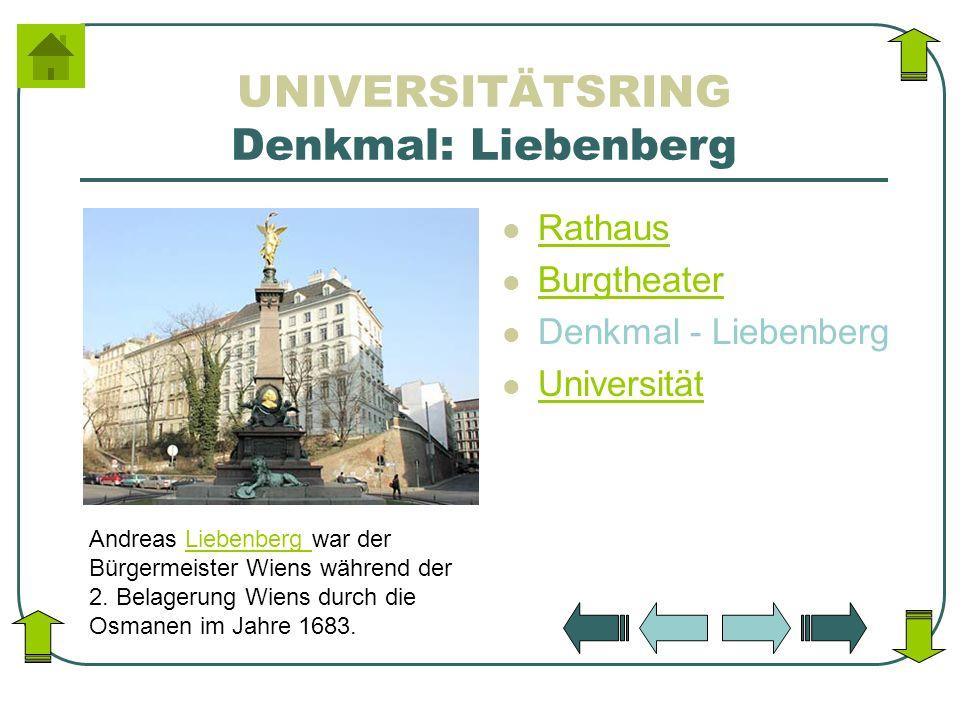 UNIVERSITÄTSRING Denkmal: Liebenberg