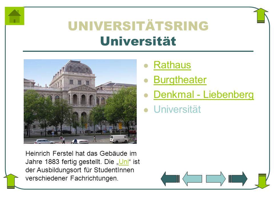 UNIVERSITÄTSRING Universität