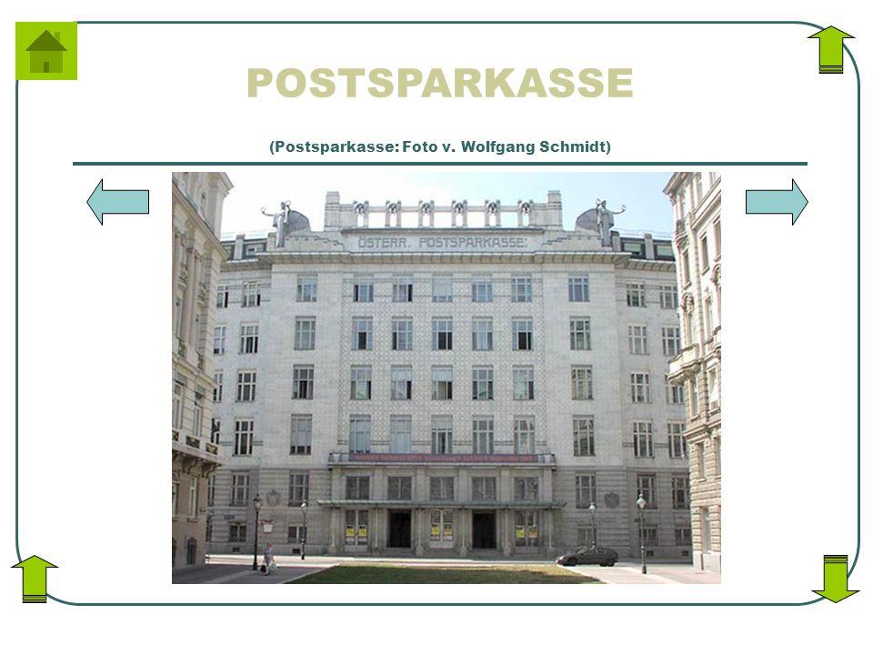 (Postsparkasse: Foto v. Wolfgang Schmidt)