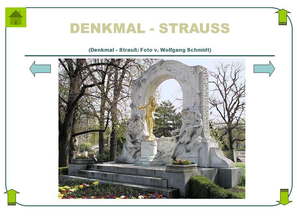 (Denkmal - Strauß: Foto v. Wolfgang Schmidt)
