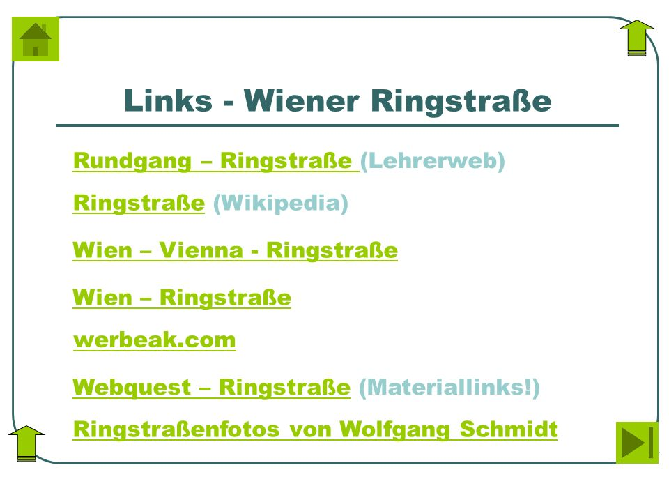 Links - Wiener Ringstraße
