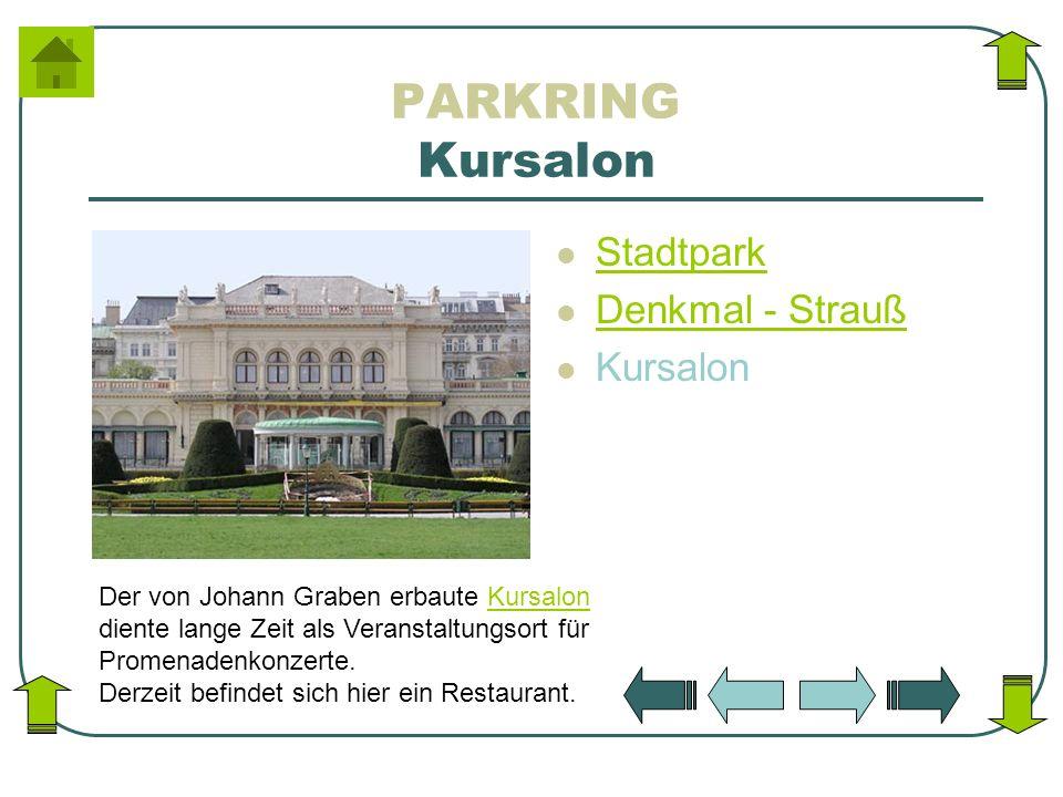 PARKRING Kursalon Stadtpark Denkmal - Strauß Kursalon