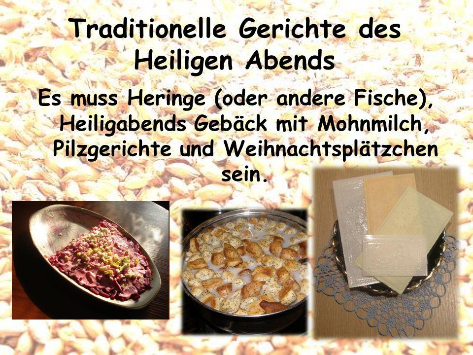 Traditionelle Gerichte des Heiligen Abends