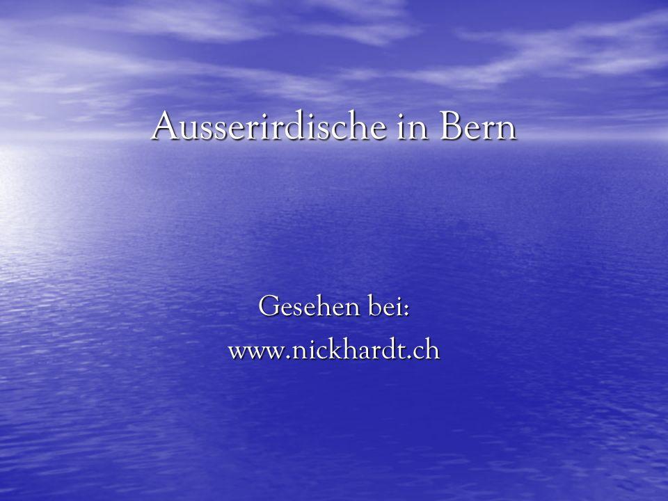 Ausserirdische in Bern
